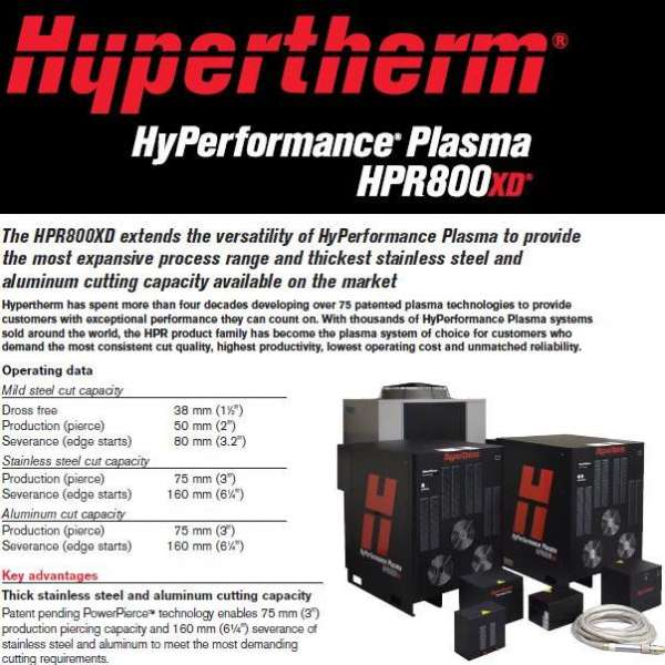 HPR 800 XD HyPerformance Plasma System